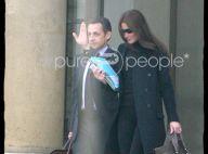 Photos : départ pour l'Afrique de Carla et Nicolas Sarkozy, premier voyage du couple présidentiel ...