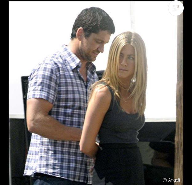 Jennifer Aniston et Gerard Butler sur le tournage de The Bo, le chasseur de primes