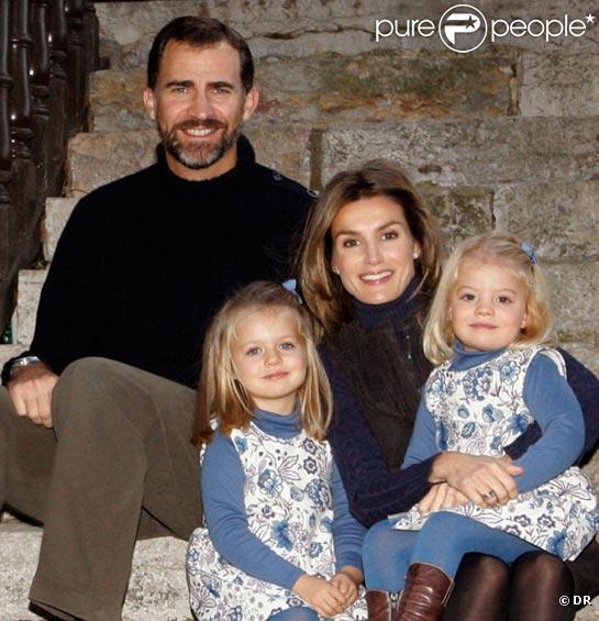 Letizia, Felipe et leurs adorables filles Leonor et Sofia