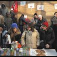 Galette de la solidarité avec les sans papiers, dans le VIe arrondissement de Paris. 6/01/2010