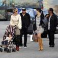 Johnny Hallyday, sa femme Laetitia et leur fille Joy, le 6 janvier 2010