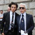 Baptiste Giacobini et Karl Lagerfeld