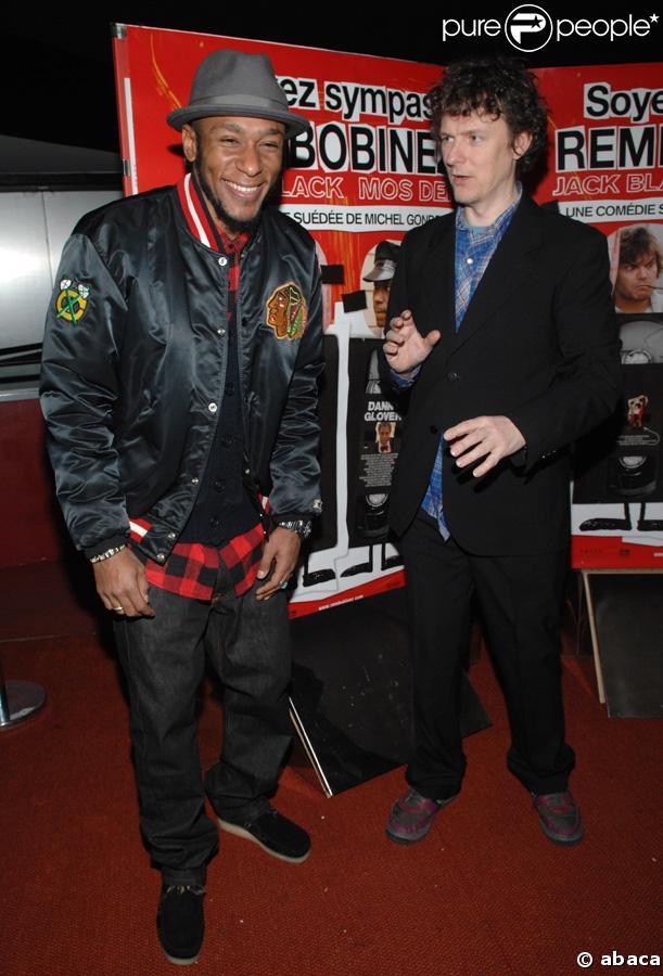 Mos Def et Michel Gondry à l'avant-première du film