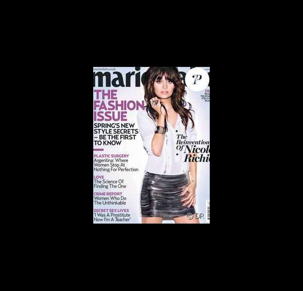 Nicole Richie en couverture de Marie Claire UK
