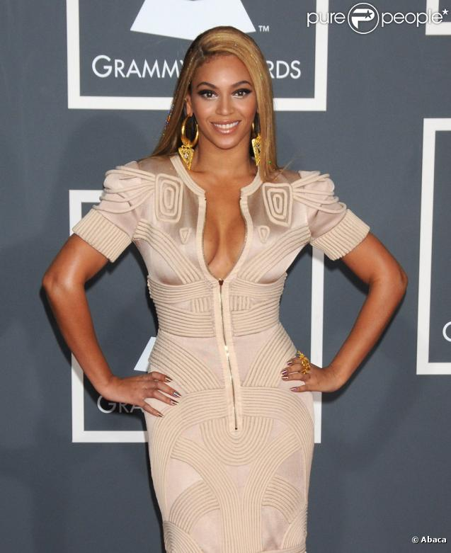 Beyoncé lors des Grammy Awards à Los Angeles le 31 janvier 2010