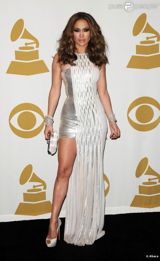 Jennifer Lopez aux Grammy Awards à Los Angeles, le 31 janvier 2010