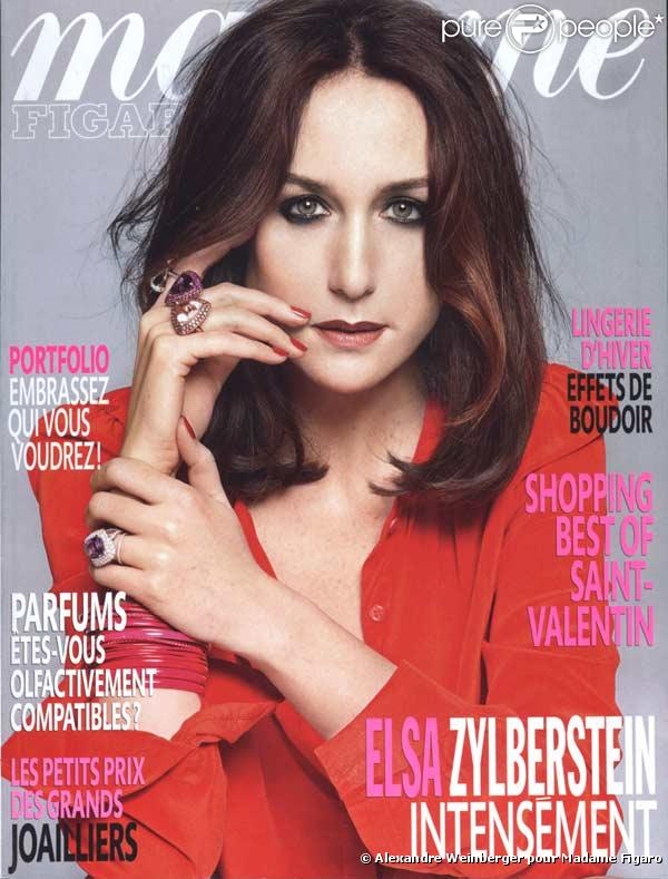 Elsa Zylberstein en couverture de Madame Figaro
