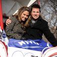 Nick Lachey et Vanessa Minnillo font la promotion de Share the Love with Nivea afin de célébrer une année 2010 pleine d'amour et de câlins à Central Park le 9 février 2010