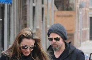 Regardez Brad Pitt et Angelina Jolie... c'est l'amour à Venise !