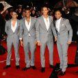JLS sur le tapis rouge des Brit Awards, à Londres, le 16 février 2010 !