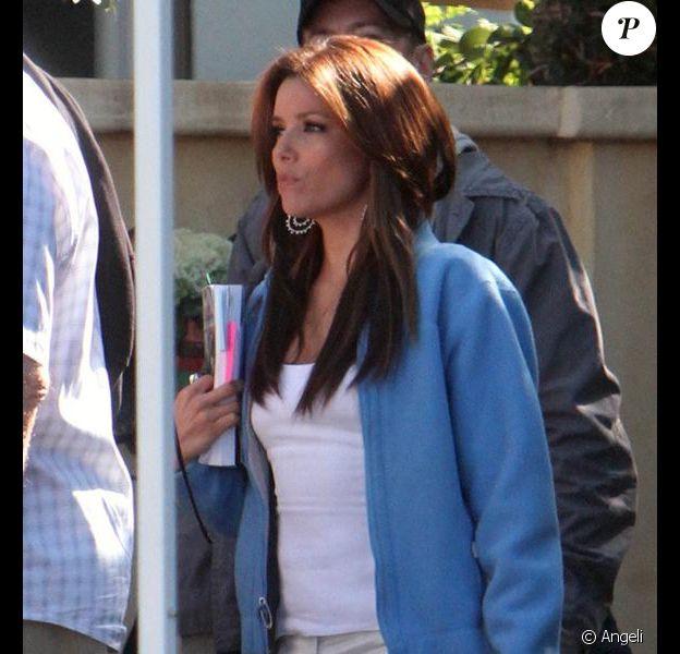Eva Longoria sur le tournage de Desperate Housewives le 17/02/10