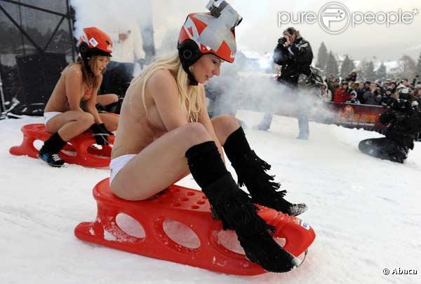 La compétition de bob-sleigh tout nu !