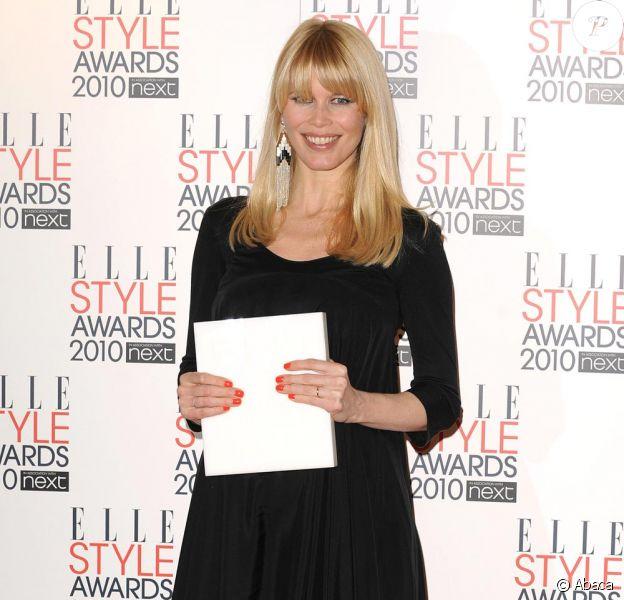 Claudia Schiffer aux ELLE style Awards 2010 à Londres le 22/02/10