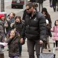 """Hugh Jackman et sa fille Eva (22 février 2010)"""