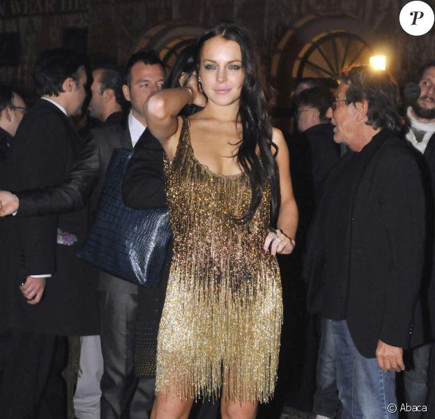 Lindsay Lohan lors de la Vogue Party à Milan le 26 février 2010
