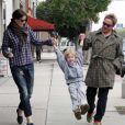 Liv Tyler, son fils Milo et son ex-mari Royston Langdon à Los Angeles