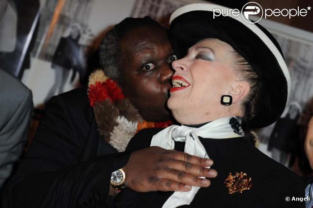 Magloire et Geneviève de Fontenay au dîner SOS Racisme, à Paris le 1er mars 2010 !