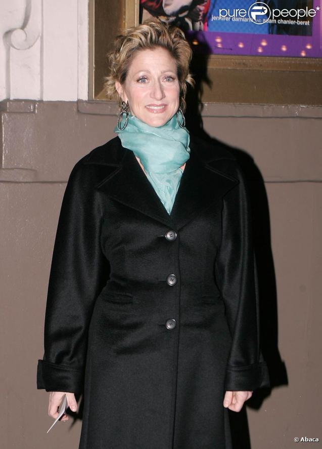 Edie Falco à la première de la pièce de Théâtre A Behanding in Spokane le 4 mars à New York