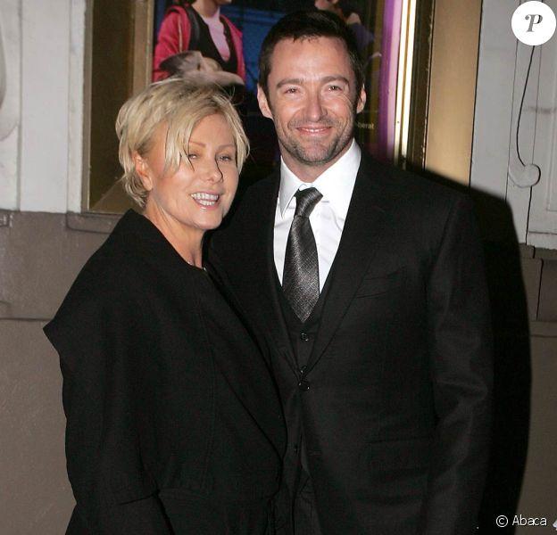 Hugh Jackman et sa femme Deborra-Lee Furness à la première de la pièce de Théâtre A Behanding in Spokane le 4 mars à New York