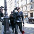 Lindsay Lohan à Paris durant la Fashion Week le 7 mars 2010
