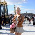 Anna Sherbinina au défilé Dior à Paris