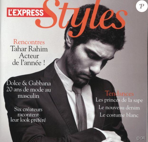 Tahar Rahim en couverture de L'Express Styles