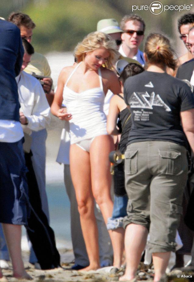 Cameron Diaz lors d'un shooting en juin 2005