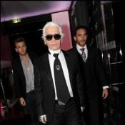 Karl Lagerfeld va-t-il piquer la place de... Johnny Hallyday ?