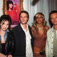 Michael Vartan avec David Hallyday, Béatrice Dalle et Cathy Guetta, à Paris en avril 2001