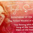 Taylor Swift est en lice pour quatre récompenses lors des Academy of Country Awards et a élaboré une vidéo délirante avec son équipe de choc
