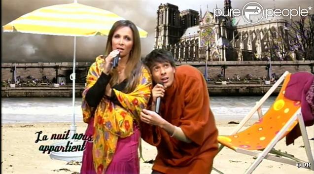 Hélène Ségara et Mustapha El Atrassi parodient Notre Dame de Paris, version Paris Plage