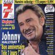 Johnny Hallyday en 3D sur la couverture de Télé 7 Jours