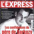 L'Express avec en couverture, Pal Sarkozy il y a quelques années