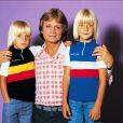 Claude François et ses deux fils Claude François Jr et Marc 1975