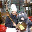 Fabien Galthié a eu l'immense privilège de rencontrer Ratatouille, star des Studios Pixar à Euro Disney le 27 mars 2010