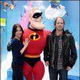 Géraldine Pailhas et son mari Christopher Thompson ont eu l'immense privilège de rencontrer les stars des Studios Pixar à Euro Disney le 27 mars 2010