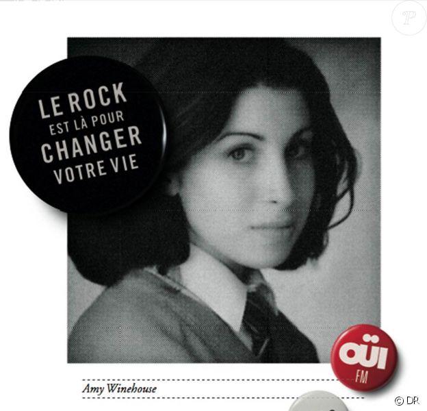 Campagne 2010 de la radio rock Ouï FM : le rock est là pour changer votre vie... comme il a changé celle d'Amy Winehouse !