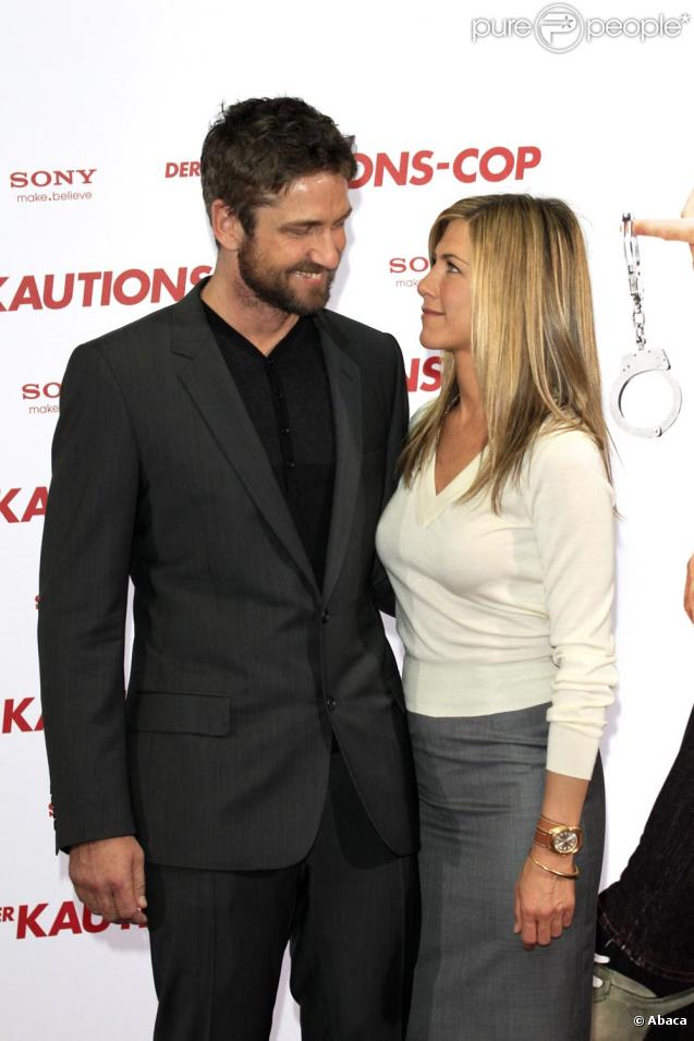 Jennifer Aniston et Gérard Butler à la première de The Bounty Killer à Berlin. Le 29 mars 2010