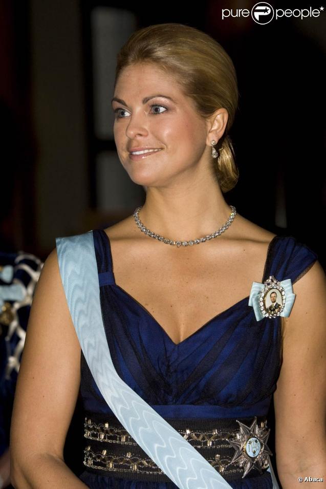 La princesse Madeleine de Suède assiste à la remise du Prix pour la recherche scientifique, à Stockholm, le 31 mars 2010