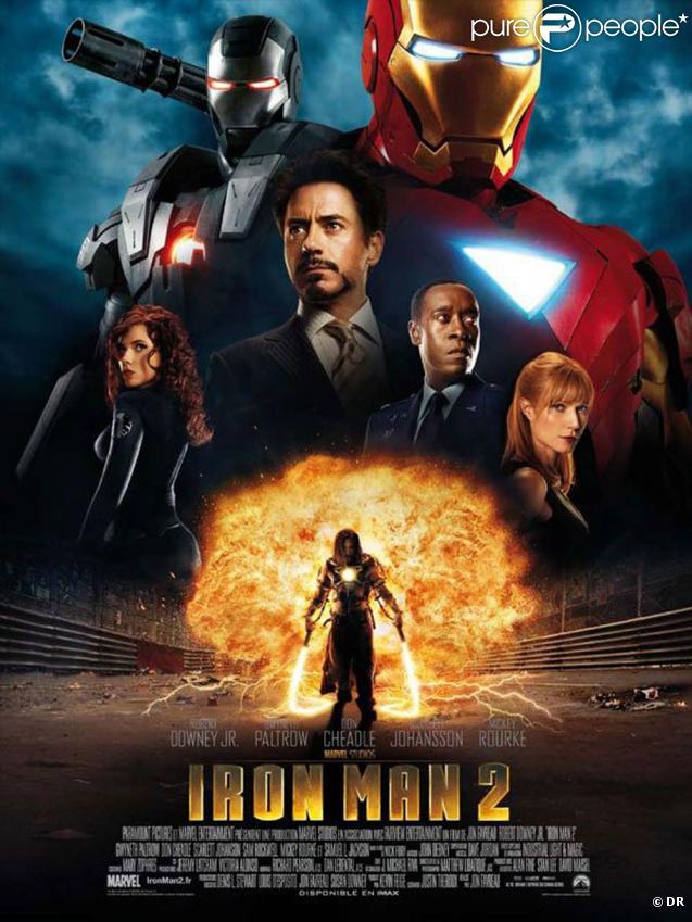 L'affiche d' Iron Man 2 , en salles le 28 avril 2010.