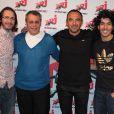 Floraan Gazan, Mustapha el Atrassi, Nikos Aliagas et le nutritionniste Jean-Michel Cohen chez NRJ, le 7 avril 2010 !