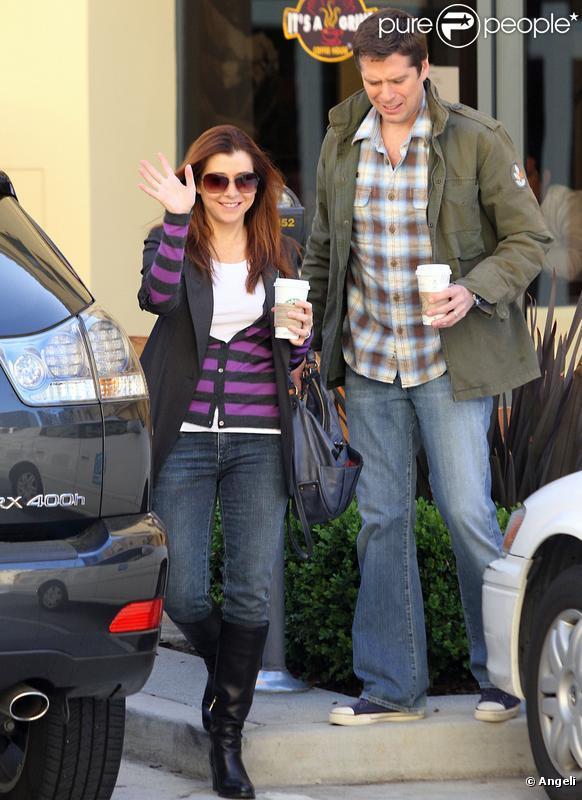 Alyson Hannigan en plein shopping en famille le 6 avril 2010