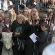 Jemma Redgrave, fille du défunt, et Kika Markham aux obsèques de Corin Redgrave, en la cathédrale Saint-Paul de Londres.  12/04/2010