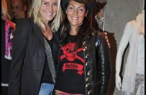 Hermine de Clermont Tonnerre et Sophie Favier avec les Rolling Stones avant leur départ... à Cannes ! Ben non ! (réactualisé)