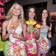 """""""Alessandra Ambrosio, Miranda Kerr et Candice Swanepoel pour la promo du parfum Heavenly flowers de Victoria's Secret à New York, le 24 avril 2010 """""""