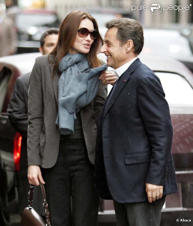 Carla Bruni et Nicolas Sarkozy à New York, le 28 mars 2010