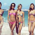 Daria Werbowy, Erin Wasson, Julia Stegner, Lara Stone, et Sasha Pivovarova pour la collection beach summer de H&M