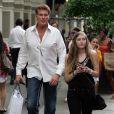 David Hasselhoff et sa fille Taylor Ann font un peu de shopping chez Calvin Klein dans le quartier de Soho à New York le 4 mai 2010