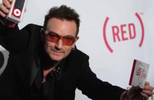 Bono, un engagé déchaîné, entouré des superbes créatures Iman Bowie et Alex Wek !