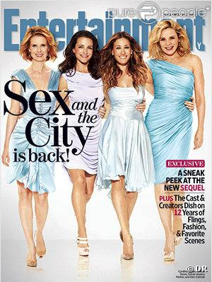 Les Sexy City Girls en couverture d'Entertainment Weekly